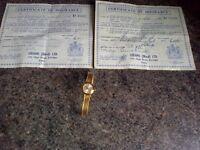 Gold Omega Bracklet Watch post incld mark 9 375
