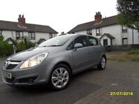 2007 Vauxhall Corsa Design, 1229cc, Full MOT,