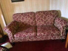 Sofa-red and gold pattern