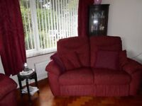 Two seater recliner and three seater sofa