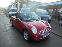 2005 55 mini one 1.6 convertible, lady owner since 2006. 30 + cars in stock.