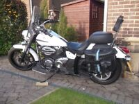 Yamaha XVS950 Middleweight Cruiser, low seat not too heavy with plenty of power