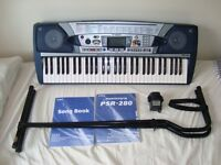 Yamaha PSR-280 Electric Keyboard and accessories