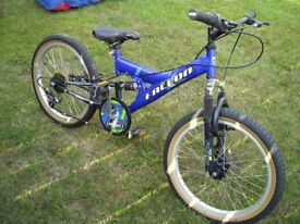 falcon combat childs mountain bike disc brakes suspension and gears