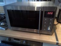large stainless steel microwave in very good condition