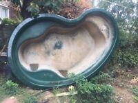 Used Glass Fibre Preformed Pond 2500 litres for sale