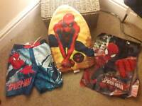 Spiderman swim set Inc float