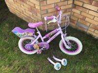 "Disney Princess 14"" Bike with Stabilisers & Dolls Seat"