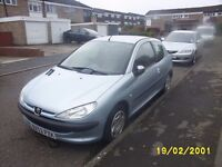 Peugeot 206 with mot end of august 1.2 . 2 dr
