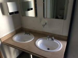Washroom toilet trailer REDUCED Modular portable 12x32 155105 skid  Lav