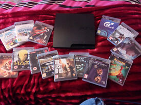 PlayStation 3 (PS3) slim with 15 games