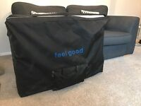 'Feel Good' leather look Beauty/Massage bed. Nearly new, excellent condition.