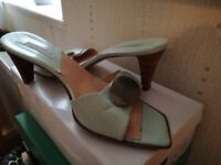 Size 6 duck egg leather sandals