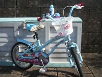 Girls/childs cherry lane bicycle and accessories