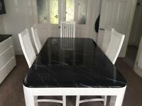 Marble top Dining Table with 6 chairs (Italian)