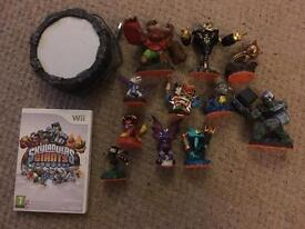 Wii skylander game, portal and figures