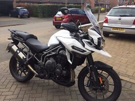 Triumph Explorer XRX low 2016 350 miles only, 1 years warranty, White