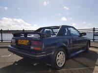 Toyota MR2 Mk 1, T-bar/convertible, Blue, Beautiful condition