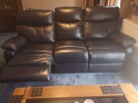 Blue Italian Leather Suite