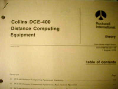 Collins   DCE 400  Distance Computing Equipment service manual