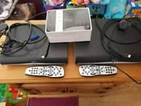 2 sky+ hd boxes plus fibre router
