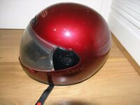 Motor Cycle helmet maverick Dark Red / Burgundy Italian Mavet