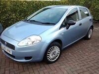 28860 MILES, MOT APRIL 2017,2007 PUNTO GRANDE ACTIVE,5 DOOR HATCHBACK
