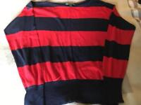 Ralph Lauren red and navy jumper - Large
