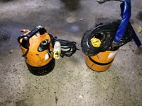 Tsunami water pumps x2,both fully working and are fully submersible,110 power leads