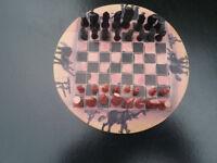 Alabaster chess set.