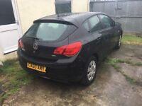 Vauxhall Astra 5 door black 73k