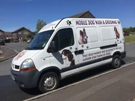 Dog grooming van for sale.