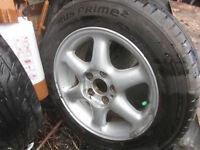 "Volvo ALloy wheels 15"" plus some tyres"