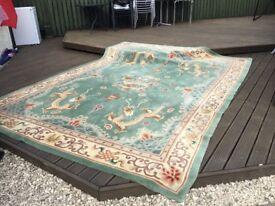 Very large vintage rug, 362 x 270cm