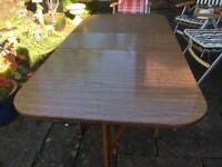 Retro 1970s Formica drop leaf table