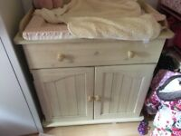 Solid wood baby changer in good condition