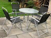 X4 chair and garden table, good condition