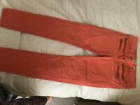 River island light orange jeans