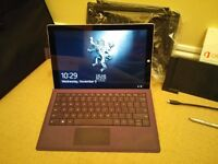 Microsoft surface pro 3 bundle in great condition