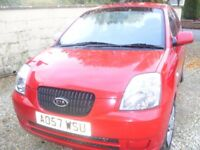 Kia Picanto - Red Hatchback 2007 (Manual)
