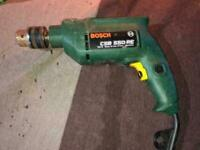 Drill Bosch electric drill in working condition