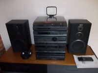 Vintage Sony HiFi with record player & 5 disc CD changer