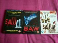 3 saw DVD's
