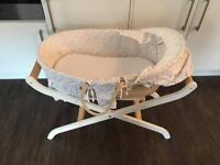 John Lewis Moses basket and stand.