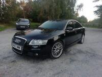 Black Audi A6 S line 2.0 TDI CVT automatic BBS Alloys 12 months MOT
