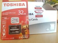 Brand New TOSHIBA micro SD Card with Adaptor included