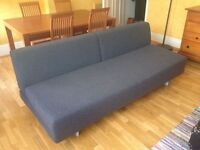 New Shape MUJI 3 Seater Sofa Bed. Double Sofabed. Charcoal Grey, Very Modern & Chic + I CAN DELIVER
