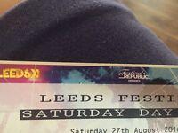 Leeds festival Saturday day ticket