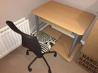(SOLD) FREE - Computer desk and rolling office chair