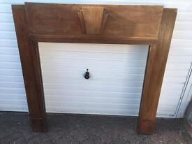 1930's solid wood fire surround